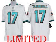 Mens Nfl Miami Dolphins #17 Tannehill White Limited Jersey