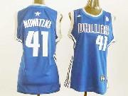 Women  Nba Dallas Mavericks #41 Nowitzki Blue Jersey