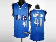 Mens Nba Dallas Mavericks #41 Nowitzki Light Blue Revolution 30 Mesh Jersey