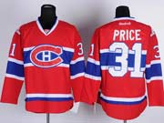 mens reebok nhl Montreal Canadiens #31 Carey Price red (ch) jersey