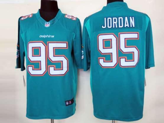 Mens Nfl Miami Dolphins #95 Jordan (2013 New) Green Limited Jersey