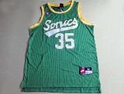 Mens Nba Seattle Supersonics #35 Durant Full Green Jersey (m)