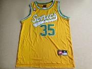 Mens Nba Seattle Supersonics #35 Durant Full Yellow Jersey (m)