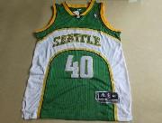 Mens Nba Seattle Supersonics #40 Kemp Green Adidas Mesh Jersey