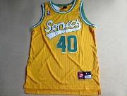 Mens Nba Seattle Supersonics #40 Kemp Full Yellow Jersey (m)