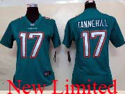 Women  Nfl Miami Dolphins #17 Tannehill Green (2013 New) Limited Jersey