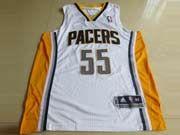 Mens Nba Indiana Pacers #55 Hibbert White Revolution 30 Mesh Jersey