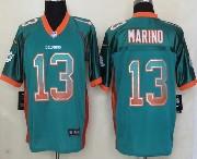 Mens Nfl Miami Dolphins #13 Marino Drift Fashion Green Elite Jersey