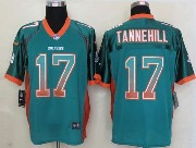 Mens Nfl Miami Dolphins #17 Tannehill Drift Fashion Green Elite Jersey