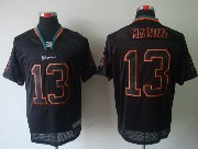 Mens Nfl Miami Dolphins #13 Marino Black (light Out) Elite Jersey