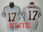 Mens Nfl Miami Dolphins #17 Tannehill Gray (light Out) Elite Jersey