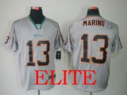Mens Nfl Miami Dolphins #13 Marino Gray (light Out) Elite Jersey