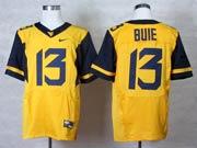 Mens Ncaa Nfl Virginia Mountaineers #13 Bule Yellow Elite Jersey Gz