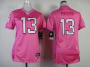 Women  Nfl Miami Dolphins #13 Marino Pink Love Jersey