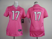 Women  Nfl Miami Dolphins #17 Tannemill Pink Love Jersey