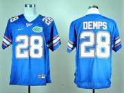 Mens Ncaa Nfl Florida Gators #28 Demps Blue Elite Jersey Gz