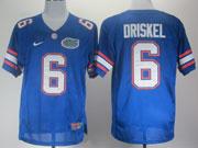 Mens Ncaa Nfl Florida Gators #6 Driskel Blue Elite Jersey Gz