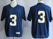 Mens Ncaa Nfl Notre Dame #3 Montana Dark Blue (white Number) Jersey Gz