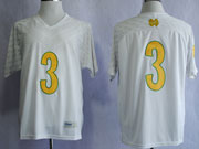 Mens Ncaa Nfl Notre Dame #3 Montana White (yellow Number) Jersey Gz