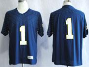 Mens Ncaa Nfl Notre Dame #1 Nix Iii Dark Blue (white Number) Jersey Gz