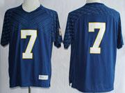 Mens Ncaa Nfl Notre Dame #7 Tuitt Dark Blue (white Number) Jersey Gz