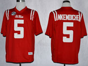 Mens Ncaa Nfl Ole Miss Rebels #5 Nkemdiche Red Limited Jersey Gz