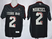 Mens Ncaa Nfl Texas A&m Aggies #2 Manziel Black (2013) Jersey Gz