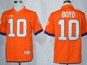 Mens Ncaa Nfl Clemson Tigers #10 Boyd Orange Limited Jersey Gz