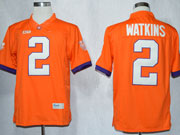 Mens Ncaa Nfl Clemson Tigers #2 Watkins Orange Limited Jersey