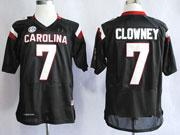 Mens Ncaa Nfl South Carolina Gamecock #7 Clowney Black (sec) Elite Jersey Gz