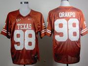 Mens Ncaa Nfl Texas Longhorns #98 Orakpo Dark Orange Jersey Gz