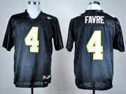 Mens Ncaa Nfl Mississippi Golden Eagles #4 Favre Black Jersey Gz