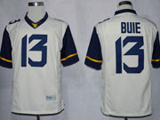 Mens Ncaa Nfl Virginia Mountaineers #13 Bule White Limited Jersey Gz