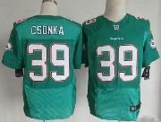 Mens Nfl Miami Dolphins #39 Csonka Green (2013 New) Elite Jersey