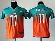 Youth Nfl Miami Dolphins #11 Wallace Green&orange Drift Fashion Ii Elite Jersey