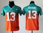 Youth Nfl Miami Dolphins #13 Marino Green&orange Drift Fashion Ii Elite Jersey