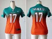 Women  Nfl Miami Dolphins #17 Tannehill Green&orange Drift Fashion Ii Elite Jersey