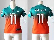 Women  Nfl Miami Dolphins #11 Wallace Green&orange Drift Fashion Ii Elite Jersey