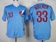 Mens mlb montreal expos #33 walker blue Jersey