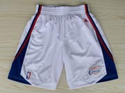 Nba Los Angeles Clippers White Short (new Mesh Style)