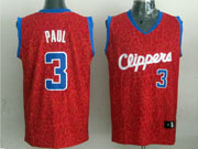 Mens Nba Los Angeles Clippers #3 Paul Red Leopard Grain Jersey