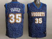 Mens Nba Denver Nuggets #35 Faried Blue Leopard Grain Jersey