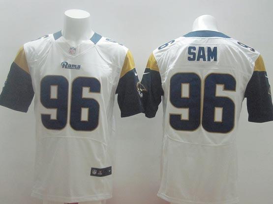 Mens Nfl St. Louis Rams #96 Sam White Elite Jersey