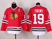 Mens reebok nhl chicago blackhawks #19 toews red c patch (2014 new) Jersey