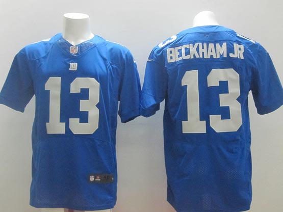 mens nfl New York Giants #13 Odell Beckham Jr blue elite jersey