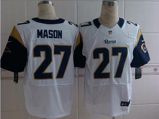 Mens Nfl St. Louis Rams #27 Mason White Elite Jersey