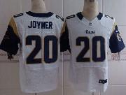 Mens Nfl St. Louis Rams #20 Joyner White Elite Jersey