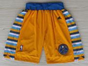 Nba Denver Nuggets Yellow Short (new Mesh Style)