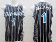 Mens Nba Orlando Magic #1 Hardaway Black Stripe Jersey
