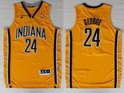 Mens Nba Indiana Pacers #24 George Yellow Revolution 30 Jersey (p)